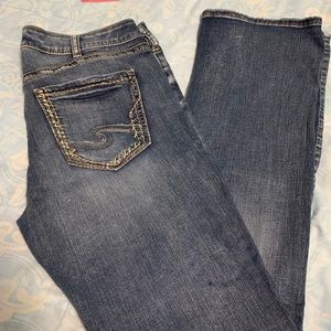 Silver Avery Slim Boot Cut Jeans